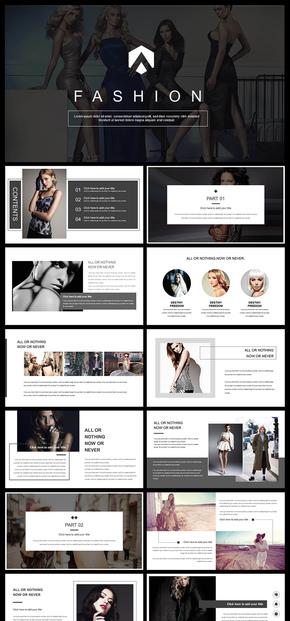 简约大气欧美风杂志风企业宣传画册品牌发布产品介绍企业宣传企业介绍PPT模板