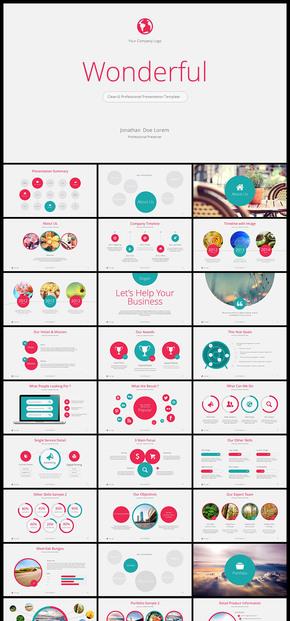 【红色】欧美风 简约风 公司企业会议 总结 计划 分析 企业介绍 企业宣传 商业创业计划书PPT模板