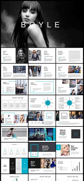欧美风创意杂志风企业宣传画册企业介绍公司简介商务汇报工作汇报计划总结汇报等商务通用PPT模板