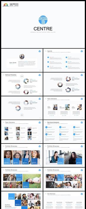 欧美风精美设计企业介绍团队介绍商务汇报商务会议工作汇报计划总结商业计划数据分析等商务通用PPT模板