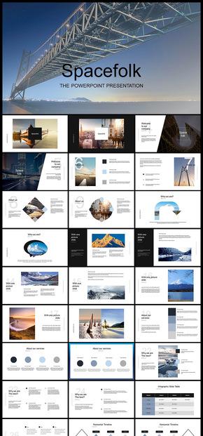 欧美风杂志风企业宣传画册摄影摄像公司介绍企业宣传PPT模板