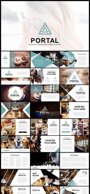 欧美风创意杂志风企业宣传画册企业宣传介绍商业创业计划计划总结摄影摄像画册广告等商务多用途PPT模板