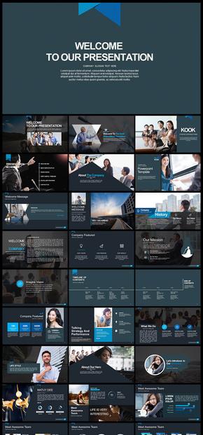 欧美风 简约大气 企业宣传 企业介绍 商业创业计划书 商务汇报 商务展示 工作总结汇报计划