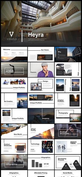 【黑色】欧美风 极简 艺术 文艺风格 企业介绍企业宣传 企业宣传画册 商务汇报展示PPT多用途模板