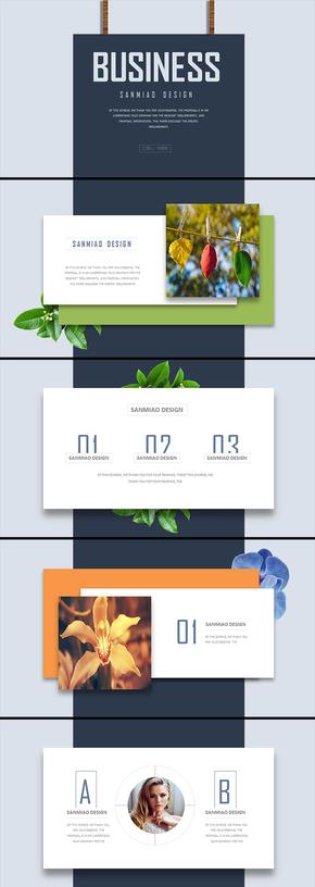 创意悬浮卡片动态贯穿工作总结汇报年终总结新年计划企业宣传简介商业创业计划等商务PPT模板