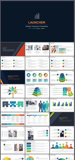 欧美风简约风公司简介企业介绍工作总结汇报计划商业计划创业计划企业商务通用PPT模板