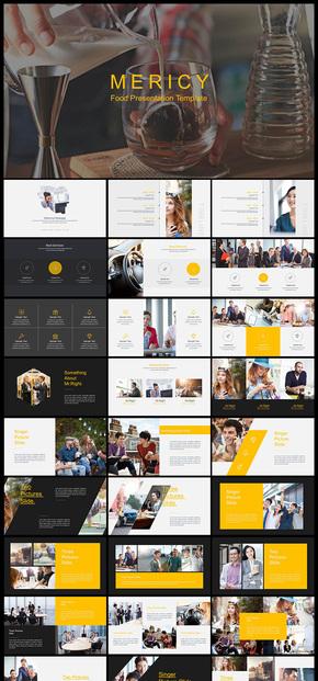欧美风简约大气企业宣传企业介绍电子画册个人写真图片展示产品发布品牌宣传等PPT模板