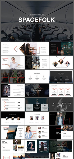 欧美风企业介绍企业宣传产品发布品牌宣传商务汇报工作汇报摄影摄像图片展示个人写真多用途PPT模板