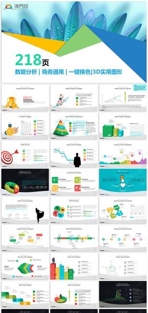 數據分析商務通用信息圖表合集模板18