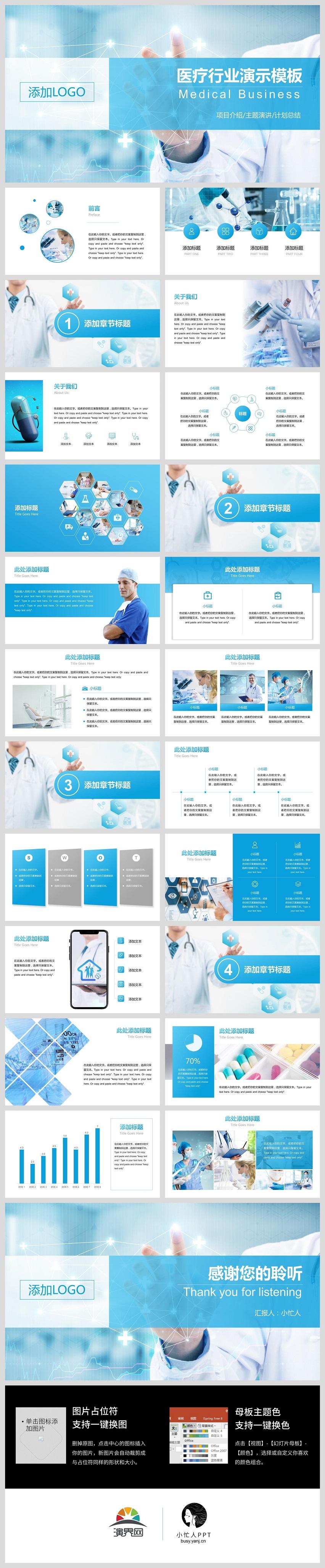 医药医疗卫生健康项目介绍计划总结主题演讲模板
