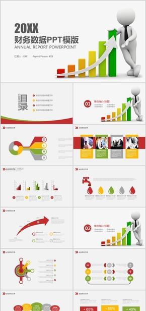 财务数据分析报表业绩财务报告PPT模版