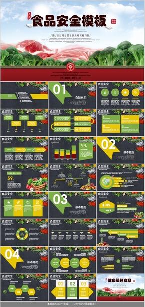 绿色健康食品PPT模板