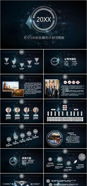星空ios创业融资计划书模板