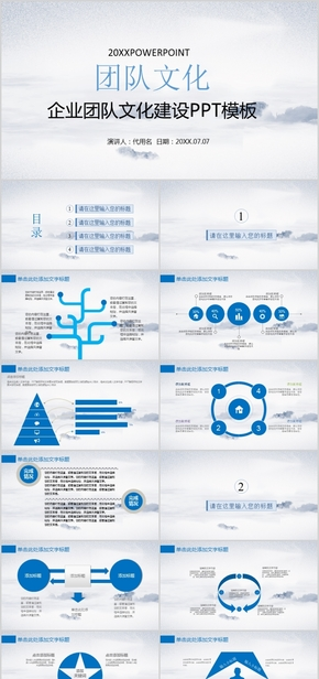 企业团队文化建设管理培训PPT模板
