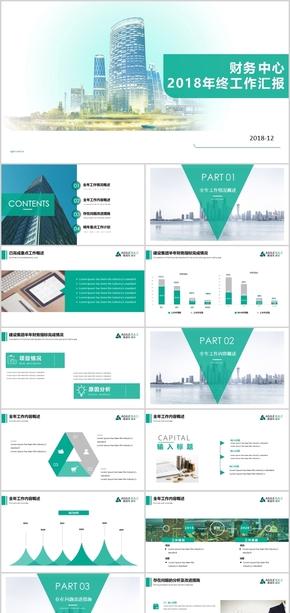 2018大气地产金融商业计划书企业介绍公司简介工作总结汇报ppt模板