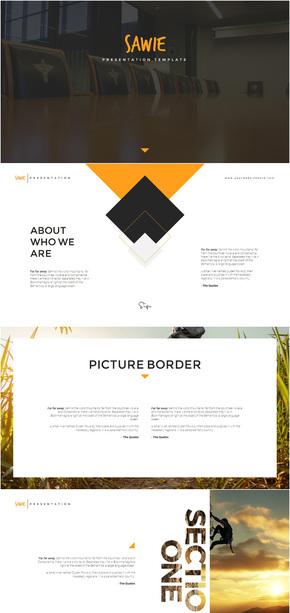 【精致】创意排版企业宣传商务演示PPT模板