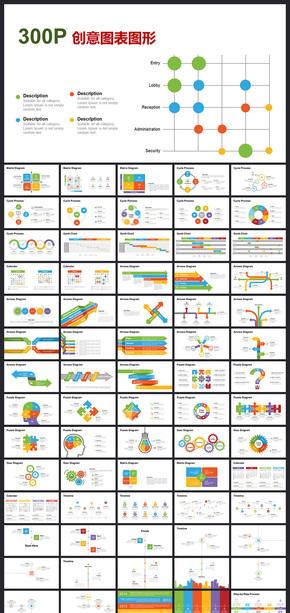 动态数据图表商务图表ppt模板