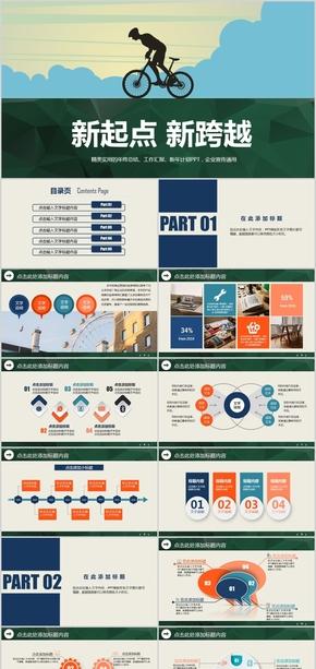 企业介绍宣传公司工作报告活动策划年终总结来年计划ppt模版