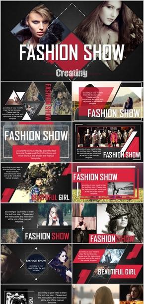 欧美高端摄影设计杂志画报服装设计ppt模版
