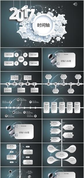 机器人时间轴简约公司发展历程产品介绍企业介绍公司介绍ppt模版