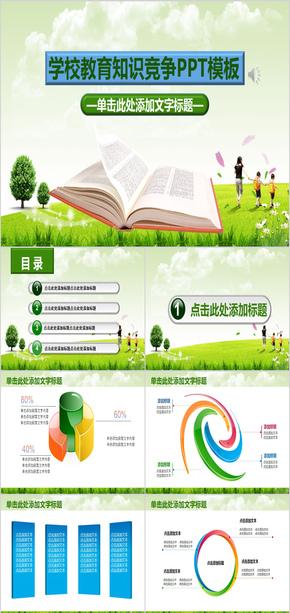 绿色学校教育知识竞赛工作汇报ppt模版