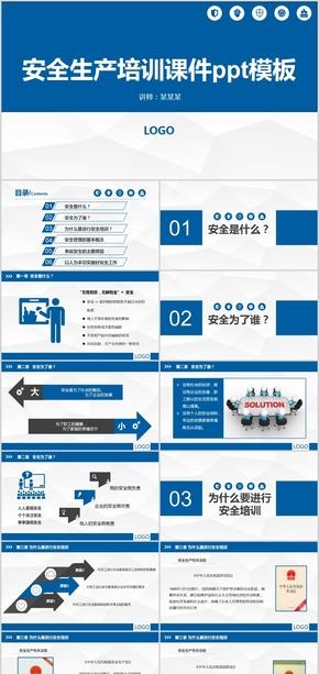 蓝色公司管理安全生产管理制度培训课件ppt模版