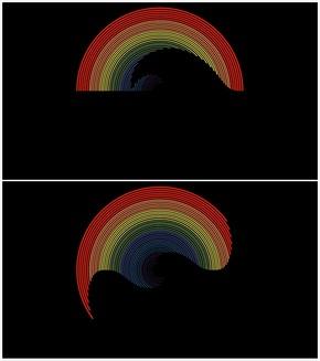 苹果风彩虹套环动画实例(做着玩)