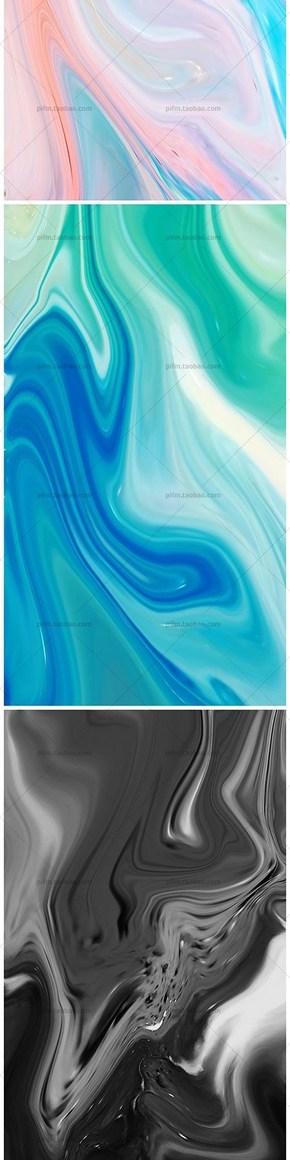 流体渐变彩色高清背景图片JPG-24张
