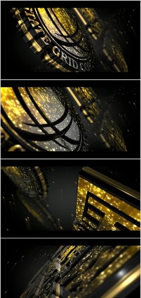 国家电网VI标识LOGO震撼大气闪亮效果视觉特效PPT片头模板