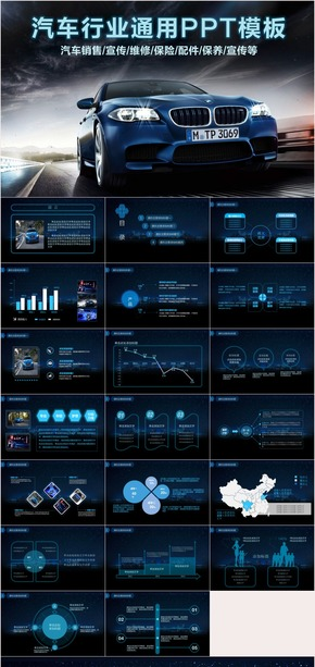 汽车行业总结汇报PPT模板