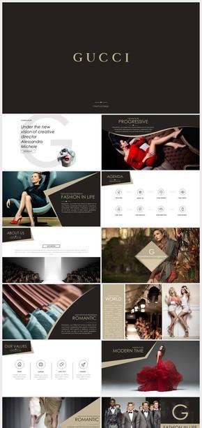 欧美奢华公司简介产品宣传策划计划书PPT模板