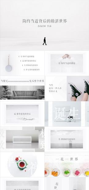 白色极简摄影艺术禅文化设计PPT模板