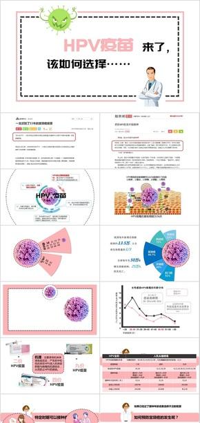【医疗医药卫生PPT】宫颈癌HPV疫苗来了,该如何选择
